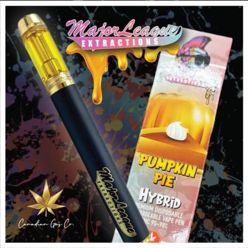 major league extractions pumpkin pie 1 1 - Major League 1.1G Premium Disposable Pens Pumpkin Pie (Hybrid) Weed Delivery Toronto - Cannabis Delivery Toronto - Marijuana Delivery Toronto - Weed Edibles Delivery Toronto - Kush Delivery Toronto - Same Day Weed Delivery in Toronto - 24/7 Weed Delivery Toronto - Hash Delivery Toronto - We are Kind Flowers - Premium Cannabis Delivery in Toronto with over 200 menu items. We're an experienced weed delivery in Toronto and we deliver all orders in a smell-proof, discreet package straight to your door. Proudly Canadian and happy to always serve you. We offer same day weed delivery toronto, cannabis delivery toronto, kush delivery toronto, edibles weed delivery toronto, hash delivery toronto, 24/7 weed delivery toronto, weed online delivery toronto
