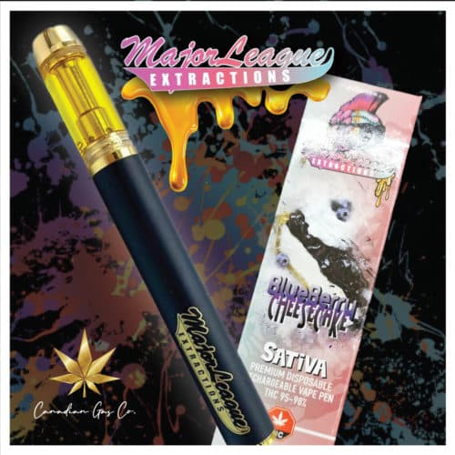major league extractions vape blueberry cheesecake - Major League 1.1G Premium Disposable Pens Blueberry Cheesecake (Sativa) Weed Delivery Toronto - Cannabis Delivery Toronto - Marijuana Delivery Toronto - Weed Edibles Delivery Toronto - Kush Delivery Toronto - Same Day Weed Delivery in Toronto - 24/7 Weed Delivery Toronto - Hash Delivery Toronto - We are Kind Flowers - Premium Cannabis Delivery in Toronto with over 200 menu items. We're an experienced weed delivery in Toronto and we deliver all orders in a smell-proof, discreet package straight to your door. Proudly Canadian and happy to always serve you. We offer same day weed delivery toronto, cannabis delivery toronto, kush delivery toronto, edibles weed delivery toronto, hash delivery toronto, 24/7 weed delivery toronto, weed online delivery toronto