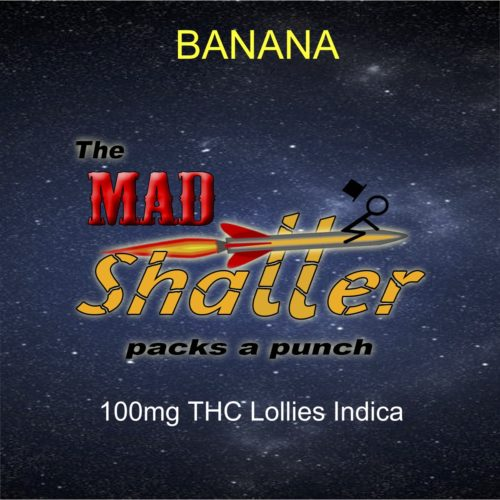 Banana Lollies Mad shatter - The Mad Shatter Banana Lollies 100mg THC Indica Weed Delivery Toronto - Cannabis Delivery Toronto - Marijuana Delivery Toronto - Weed Edibles Delivery Toronto - Kush Delivery Toronto - Same Day Weed Delivery in Toronto - 24/7 Weed Delivery Toronto - Hash Delivery Toronto - We are Kind Flowers - Premium Cannabis Delivery in Toronto with over 200 menu items. We're an experienced weed delivery in Toronto and we deliver all orders in a smell-proof, discreet package straight to your door. Proudly Canadian and happy to always serve you. We offer same day weed delivery toronto, cannabis delivery toronto, kush delivery toronto, edibles weed delivery toronto, hash delivery toronto, 24/7 weed delivery toronto, weed online delivery toronto