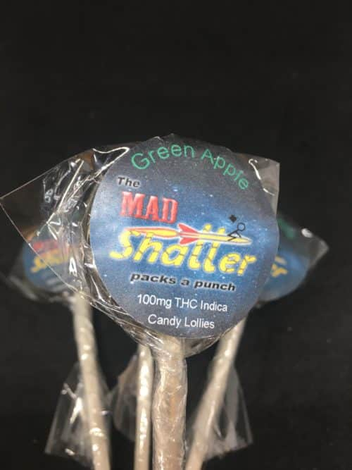 mad shatter green apple 2 scaled - The Mad Shatter Green Apple Lollies 100mg THC Indica Weed Delivery Toronto - Cannabis Delivery Toronto - Marijuana Delivery Toronto - Weed Edibles Delivery Toronto - Kush Delivery Toronto - Same Day Weed Delivery in Toronto - 24/7 Weed Delivery Toronto - Hash Delivery Toronto - We are Kind Flowers - Premium Cannabis Delivery in Toronto with over 200 menu items. We're an experienced weed delivery in Toronto and we deliver all orders in a smell-proof, discreet package straight to your door. Proudly Canadian and happy to always serve you. We offer same day weed delivery toronto, cannabis delivery toronto, kush delivery toronto, edibles weed delivery toronto, hash delivery toronto, 24/7 weed delivery toronto, weed online delivery toronto